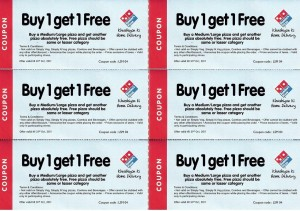 Dominos Coupons 2012: This is an example of a typical Dominos printable coupon. These coupons, however, expired at the end of 2011, but 2012 Dominos Coupons will be posted here, as soon as possible.