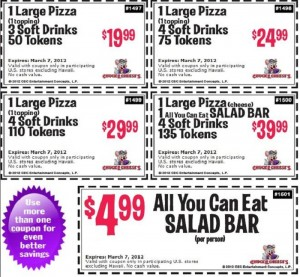 Chucke e cheese coupons 2012 (Chuckie cheese coupons/Chucky Cheese coupons)